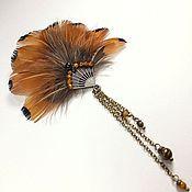 Украшения handmade. Livemaster - original item Favorite fan. Cinnamon. Brooch.. Handmade.