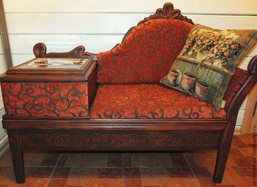 """Мебель ручной работы. Ярмарка Мастеров - ручная работа. Купить Козетка """"Итальянские фантазии""""  (реставрация). Handmade. Мебель, козетка"""