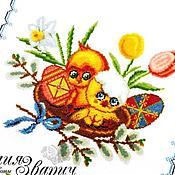 """Подарки к праздникам ручной работы. Ярмарка Мастеров - ручная работа салфетка к Пасхе """"Цыплята"""" (пасхальные, сувенирные салфетки). Handmade."""