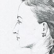 Картины ручной работы. Ярмарка Мастеров - ручная работа Портрет карандашом. Handmade.