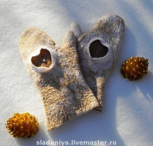 Варежки ручной работы, из натуральной шерсти. Мачнева Евгения(sladuniya)
