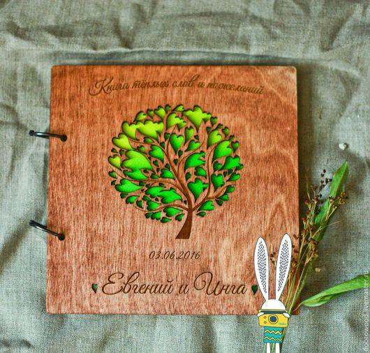 Свадебные фотоальбомы ручной работы. Ярмарка Мастеров - ручная работа. Купить книга пожеланий из дерева, свадебная книга пожеланий. Handmade.