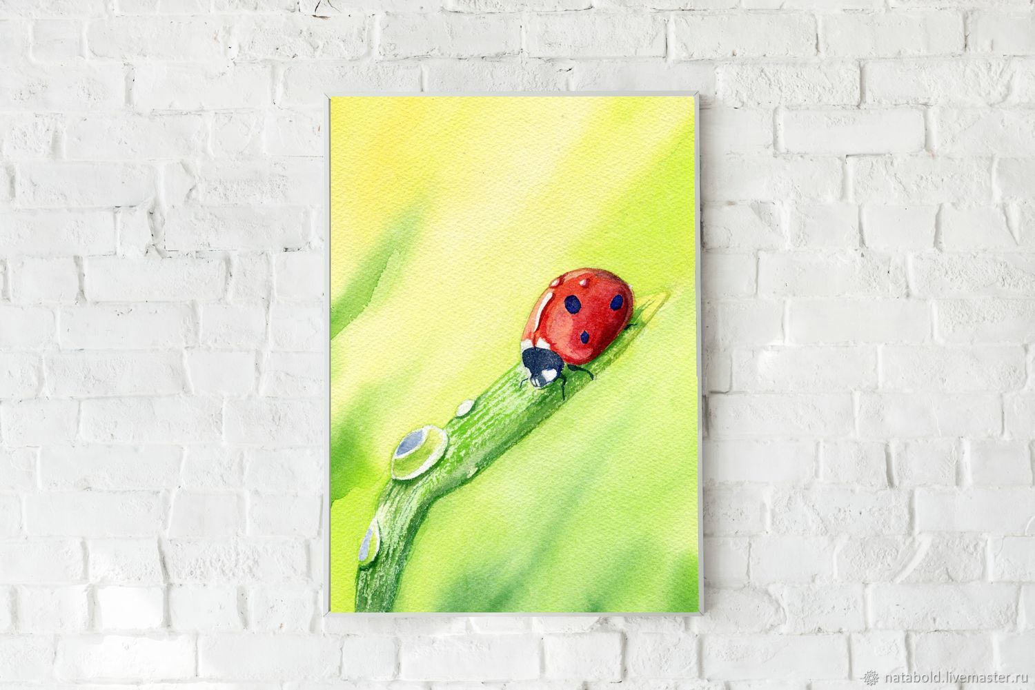 Watercolor ladybug, Pictures, Rostov-on-Don,  Фото №1