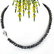 Necklace handmade. Livemaster - original item Necklace Royal black diamonds 209 ct buy. Handmade.