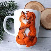 Посуда handmade. Livemaster - original item Mugs: Sweet couple. Handmade.