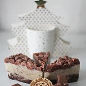 Soap handmade. Livemaster - original item Soap cake natural Penny gift girlfriend brown. Handmade.