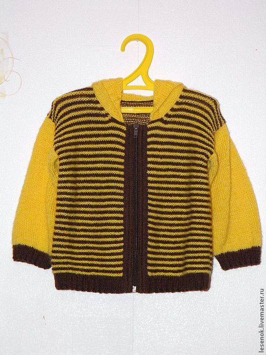 """Одежда унисекс ручной работы. Ярмарка Мастеров - ручная работа. Купить Джемпер """"Пчелка Жу"""". Handmade. В полоску, пуловер"""