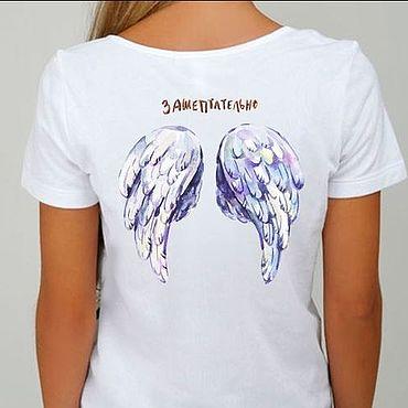 Одежда ручной работы. Ярмарка Мастеров - ручная работа Женская футболка с надписью Зашептательно. Handmade.