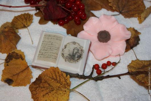 Мыло ручной работы. Ярмарка Мастеров - ручная работа. Купить Книга и цветок. Набор мыла ручной работы.. Handmade. роза