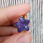 """Украшения ручной работы. Ярмарка Мастеров - ручная работа Кольцо """"Звезда"""" с кристаллами. Handmade."""