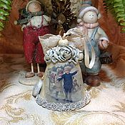 """Подарки к праздникам ручной работы. Ярмарка Мастеров - ручная работа Колокольчик """"На катке"""". Handmade."""