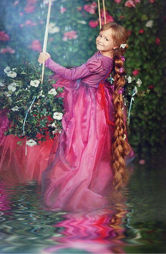 """Одежда для девочек, ручной работы. Ярмарка Мастеров - ручная работа. Купить Платье """"Рапунцель"""". Handmade. Платье, пышное платье, ателье"""