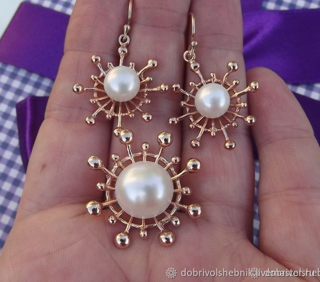 Set 'Solar system' with pearls, Jewelry Sets, Novaya Usman,  Фото №1