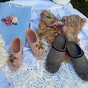 """Обувь ручной работы. Ярмарка Мастеров - ручная работа тапки """"Свадебный подарок"""". Handmade."""