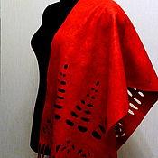 """Аксессуары ручной работы. Ярмарка Мастеров - ручная работа женский валяный шарф палантин""""Сияние"""" шарф. Handmade."""
