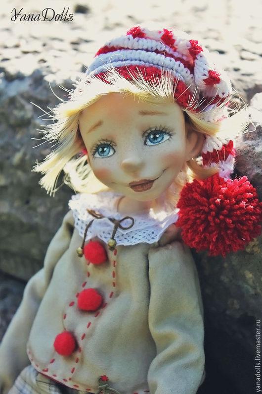 Коллекционные куклы ручной работы. Ярмарка Мастеров - ручная работа. Купить Буратино. Handmade. Ярко-красный, кукла интерьерная, опилки