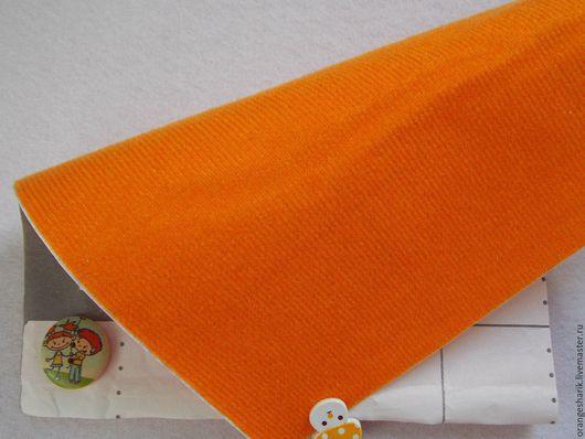 Другие виды рукоделия ручной работы. Ярмарка Мастеров - ручная работа. Купить Велкроткань клеевая Оранжевая. Handmade. Оранжевый, велкро
