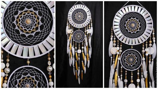 Ловцы снов ручной работы. Ярмарка Мастеров - ручная работа. Купить Dreamcatcher White mosaic Dream Catcher Large Dreamcatcher New Dream. Handmade.