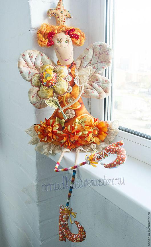 Коллекционные куклы ручной работы. Ярмарка Мастеров - ручная работа. Купить orange Дуся принцессная. Handmade. Оранжевый, nnnadka