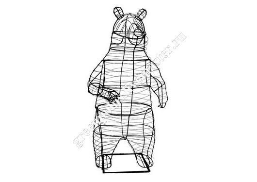 Топиарий медведь своими руками