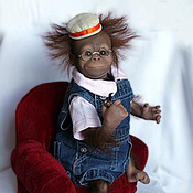 Куклы и игрушки ручной работы. Ярмарка Мастеров - ручная работа реборн-примат  из молда Bindi. Handmade.