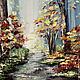 """Пейзаж ручной работы. """"В темно синем лесу.."""", картина масло. Виктория Соколова Картины (vicatory). Интернет-магазин Ярмарка Мастеров."""
