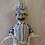 Для дома и интерьера ручной работы. Ярмарка Мастеров - ручная работа Кукла-пакетница Повар. Handmade.