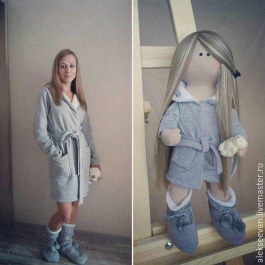 Портретные куклы ручной работы. Ярмарка Мастеров - ручная работа. Купить Портретная кукла Таня. Handmade. Серый, милый подарок