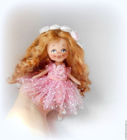 Коллекционные куклы ручной работы. Ярмарка Мастеров - ручная работа. Купить Чудо на ладошке Балерина. Handmade. Кремовый, балерина в розовом