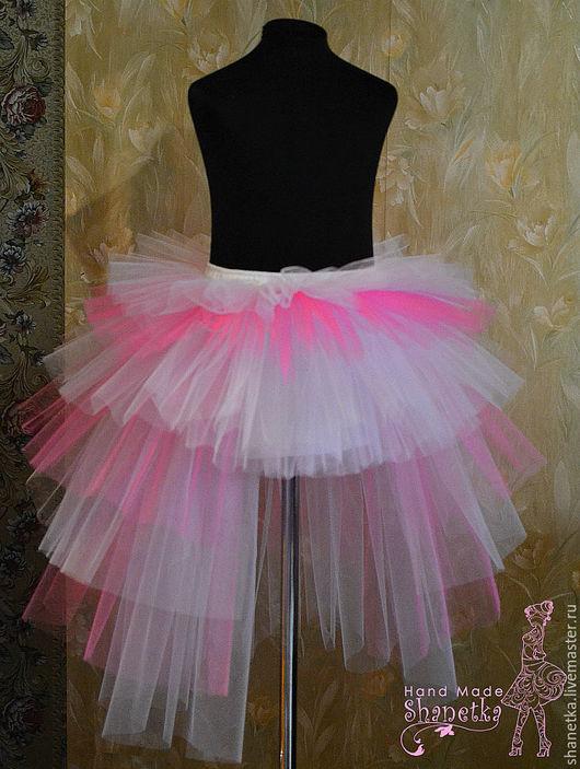 Одежда для девочек, ручной работы. Ярмарка Мастеров - ручная работа. Купить Юбка из фатина со шлейфом для девочки. Handmade. Розовый