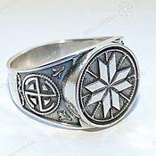 Русский стиль handmade. Livemaster - original item Ring, ring Alatyr. Handmade.