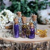 Украшения handmade. Livemaster - original item Pendant Jar with potion Harry Potter blue purple. Handmade.