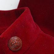Одежда ручной работы. Ярмарка Мастеров - ручная работа Жакет - болеро натуральный бархат красный. Handmade.