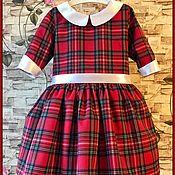 Работы для детей, ручной работы. Ярмарка Мастеров - ручная работа Детское платье Шотландка. Handmade.