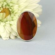Украшения handmade. Livemaster - original item Ring with carnelian. Silver.. Handmade.