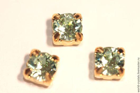 Кристаллы № 238 Chrysolit. Оправы под золото.