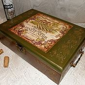 Короб ручной работы. Ярмарка Мастеров - ручная работа Большой короб для вина Старый замок. Handmade.