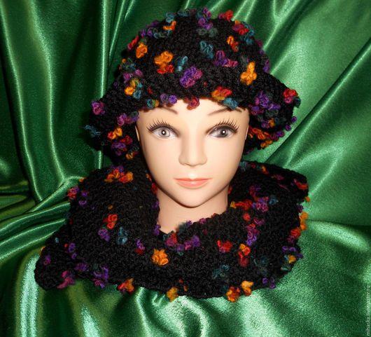 Шляпы ручной работы. Ярмарка Мастеров - ручная работа. Купить Шлапка и шарфик вязаные. Handmade. Комбинированный, яркая, модный аксессуар