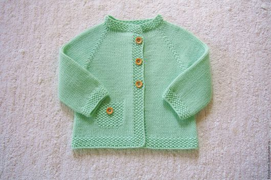 """Одежда для девочек, ручной работы. Ярмарка Мастеров - ручная работа. Купить Джемпер """"Мятный коктейль"""". Handmade. Мятный, подарок"""