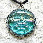 Винтаж handmade. Livemaster - original item Magic of the Moon Necklace, Kirks Folly, USA, leather cord pendant. Handmade.