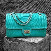 Сумки и аксессуары handmade. Livemaster - original item Handbag made of genuine Python leather chain. Handmade.