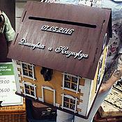 Свадебный салон ручной работы. Ярмарка Мастеров - ручная работа Свадебный домик казна с черепицей. Handmade.