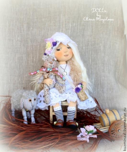 Человечки ручной работы. Ярмарка Мастеров - ручная работа. Купить MISSY...Текстильная куколка. Handmade. Белый, интерьерная композиция, девочка