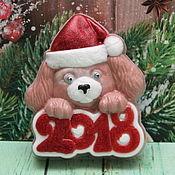 """Подарки к праздникам ручной работы. Ярмарка Мастеров - ручная работа Мыло """"Щенок-Санта"""". Handmade."""