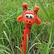 Куклы и игрушки ручной работы. Ярмарка Мастеров - ручная работа Жирафик шерстяной. Handmade.