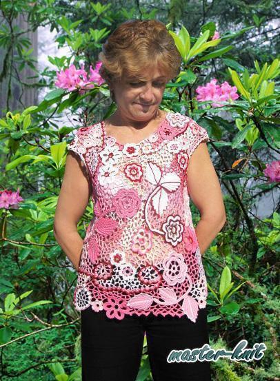 Кофты и свитера ручной работы. Ярмарка Мастеров - ручная работа. Купить Красивая розовая кофточка. Handmade. Топ, вязание на заказ