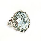 "handmade. Livemaster - original item Silver ring: aquamarine ""Santa Maria"". Handmade."