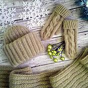 Аксессуары handmade. Livemaster - original item Knitted accessories set Hat and Mittens