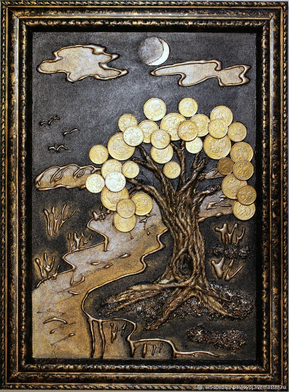Панно денежное дерево луна, Картины, Москва,  Фото №1