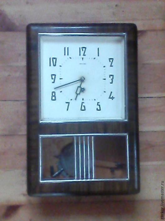 Часы для дома ручной работы. Ярмарка Мастеров - ручная работа. Купить Часы настенные механические. Handmade. Коричневый, древесина